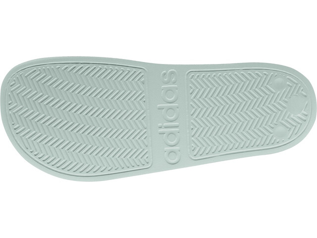 adidas Adilette Shower Sandalias Mujer, green tint/footwear white/green tint